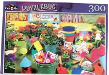🌹New Puzzlebug 300 Piece Jigsaw Puzzle Traditional ~ Gardening Time ~