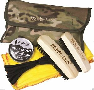 Web-tex Military Boot Care Kit Army Cadets Territorial Polish & Polishing V-Camo
