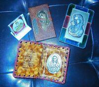 Vintage Lot of 4 Catholic Religious Items Virgin Mary, Madonna Medallion