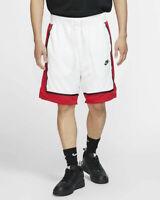 Nike Pantaloncini Shorts Uomo Bianco Sportswear basket con tasche 2019
