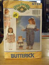 Butterick 5724 Girl's Dress, Jumpsuit, Headband & Doll Clothes Pattern - Sz 5-6X