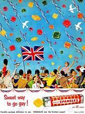 ADVERT FOOD SWEET CANDY UNION FLAG JACK PARADE UK ART PRINT POSTER BB6976