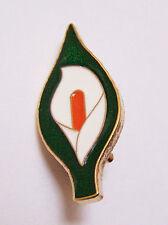 Large 40mm Easter Lily Enamel Pin Badge - Irish Republican Rebel 1916 Rising IE