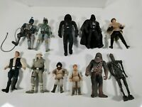 Star Wars Figure Lot Darth Vader Boba Fett Han Solo Chewbacca (A4)