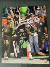 New England Patriots Rob Gronkowski SuperBowl Signed Autographed 16x20 Photo COA