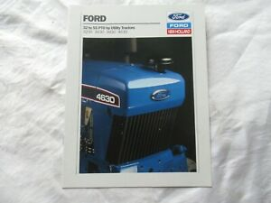 Ford New Holland 3230 3430 3930 4630 utility tractor brochure