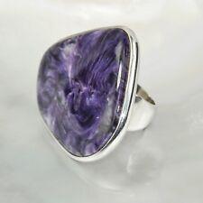 Charoit Ring, 925er Silber, Edelsteinring (21743), Edelsteinschmuck