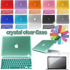 Bundle Crystal Clear Hard Case+Keyboard Cover+Screen protector For Apple Macbook