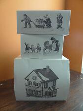 Dept 56 Peppermint Porch Day Care Preschool Nanny Baby Dog Christmas Village Lot