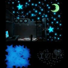 100X Bedroom Nursery Room Ceiling Glow In The Dark Stars Wall Sticker Kids Decor