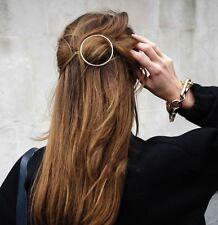 Epingle à Cheveux Doré Géométrique Rond Metal Simple Retro Original