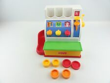 Fisher Price #72044 Cash Register Vintage 1994 6 Coins White Red Sounds