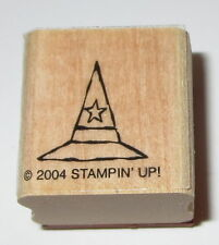 Witch's Hat Rubber Stamp Halloween Pointy Stampin' Up! Star Retired Fall