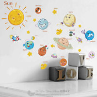 Cut Planet Removable Wall Stickers Nursery Vinyl Decal Kids Baby Room Decor