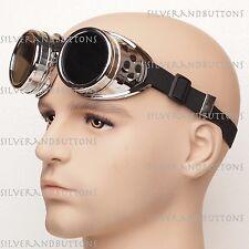 Aviation Vampire Welding Scientist Steampunk Goggles Halloween Costume Glasses