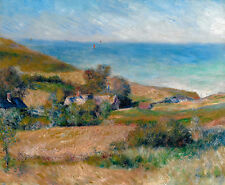 Renoir 1880, View of the Seacoast Normandy, Fade Resistant HD Art Print / Canvas