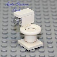 NEW Lego City/Train Minifig WHITE TOILET Gr8 4 Girl/Boy Minifigure Bathroom Loo