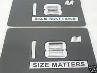 18 Inch Wheel Rim Size Badges - Pair