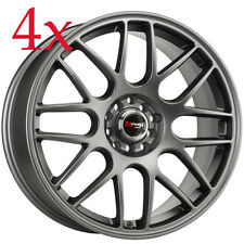 Drag Wheels DR-34 18x8 5x114 +35 Charcoal Gray Rims For Mazda6 Mazda3 626 Accord