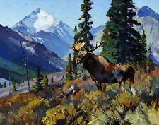 Rungius Carl Moose On The Head Of Ram River Print 11 x 14   #4301