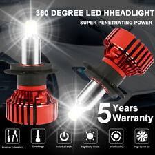 2pcs 360 Degree H7 LED Headlight Conversion Kit Bulbs 72W 16000LM High Low Beam
