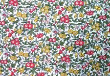 SK49 LIBERTY OF LONDON Floral Retro AMAZING BEAUTIFUL Cotton Quilt Fabric