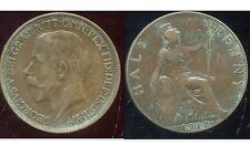 ROYAUME UNI - GREAT BRITAIN half penny 1912 ( ca )