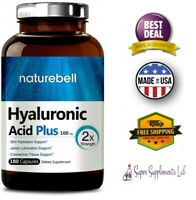HYALURONIC ACID 100 mg 180 Capsules Supports Joint & Skin Hydration Supplement