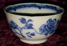 Blue & white flower design vintage pre Victorian antique tea bowl