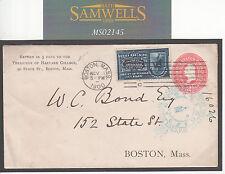 MS2145 1900 Stati Uniti UNIVERSITà CARTOLERIA * Harvard College * consegna speciale COVER