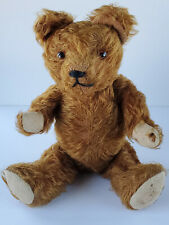 Cinnamon Mohair Glass Eyes Wood Wool Fully Jointed No Button 11 Inch Teddy Bear
