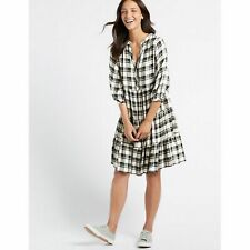 Skater Dress Checked Half Sleeve es M&S COLLECTION  NEW size 18