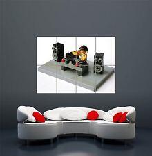 LEGO DJ DECKS TOY MUSIC FUN KIDS CHILDREN POSTER ART  PRINT GIANT LARGE  WA066