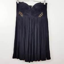 ONE TEASPOON | Womens Black Dress w/ Suede Leather [ Size  AU 10 or US 6 ]