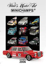 Minichamps PMA Model 2006 New Models Range Catalogue A4 Ed. 1 - Colour 250 Pages