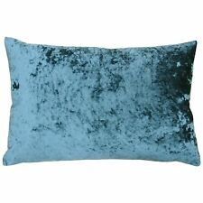 DEEP PILE CRUSHED VELVET TEAL SOFT 40CM X 60CM CUSHION COVER
