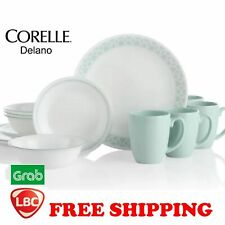 Corelle delano green 16PC dinnerware set paypal