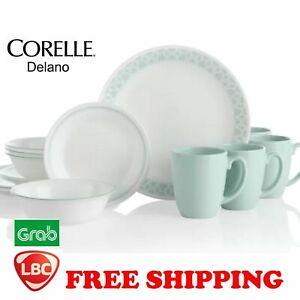 Corelle delano green 16PC dinnerware set paypal