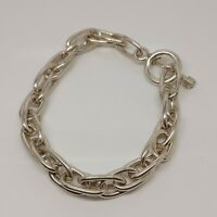 Solid Sterling Silver 925 heavy chain bracelet jewellery 8 inches Q93-33