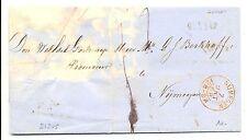 NED  EGYPT LANGST =  GENNEP  =   1868  BRIEF  FRAAI -GEBREKEN