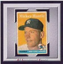1958 Topps MICKEY MANTLE #150 GOOD *fantastic baseball card for your set* M99C