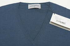 JOHN SMEDLEY Bobby V Neck Pullover Indigo Brando Blue  XS X-Small  Knitted BNWT