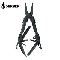 GERBER MULTI-PLIER MP 600 BLACK OXIDE WITH BLACK POUCH MULTITOOL MADE IN USA
