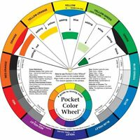 COLOUR/PAINT MIXING POCKET WHEEL ART GUIDE  EASY LEARNING MIX COLOUR 13CM