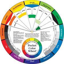 Color/pintura mezcla de bolsillo fácil aprendizaje de guía de Arte de rueda Mezcla Color 13CM