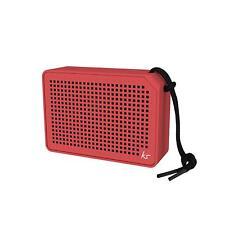 Kitsound Boxi Tragbar Wasserfest Bluetooth Lautsprecher Rot - Neu