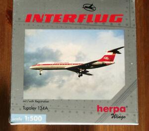 """HERPA 512138 1:500: TUPOLEV 134A """" INTERFLUG""""  OVP"""