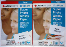 AGFAPHOTO 200 fogli carta fotografica 10 x 15 glossy 240 g per stampanti