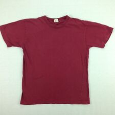 Vintage Structure Blank T-Shirt size LARGE USA Made 90s Burgundy Red Surf Skate