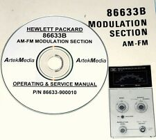 HP Hewlett packard 86633B AM-FM Modulation Module Operating & Service Manual